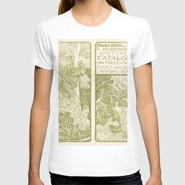 Aankondiging met reiger voor serie Dierstudies (1878-1898) print in high resolution by Theo van Hoyt T-shirt