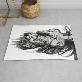GIRL-GRAFF-ART Rug