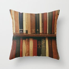 shelf of books Throw Pillow