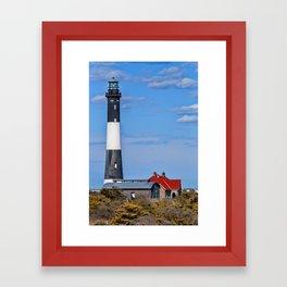 Fire Island Light House Framed Art Print