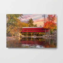 Sift River Sunset Metal Print