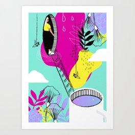 Daydreaming in ChromaCity Art Print