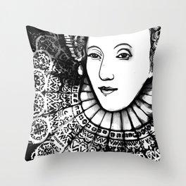Queen Elizabeth I Portrait  Throw Pillow