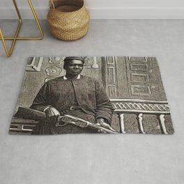 African American Portrait Shotgun 'Mary Wells' by Jeanpaul Ferro Rug