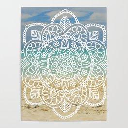 Beach Mandala Poster