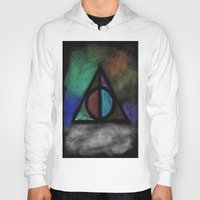 deathly hallows Hoodies featuring Deathly Hallows - Dark! by Ria-Ra
