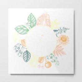 Exotic Plant Wreath Metal Print