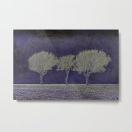 Three Fog Trees Blue #1 Metal Print