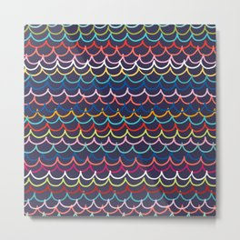 Rainbow Waves - Eclipse Metal Print