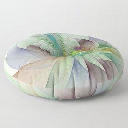 Colorful Shapes, Modern Fractals Art Floor Pillow