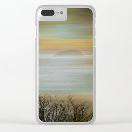 Misty Steepholm Clear iPhone Case