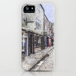 The Shambles York Snow Art iPhone Case
