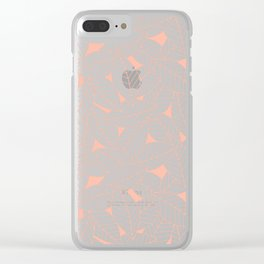 Leaves in Creamsicle Clear iPhone Case