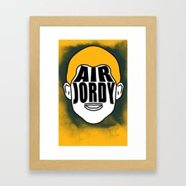 "Jordy Nelson ""Air Jordy"" Framed Art Print"