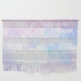 Sky Fall Dream Pastel Glitch - pink and blue Wall Hanging