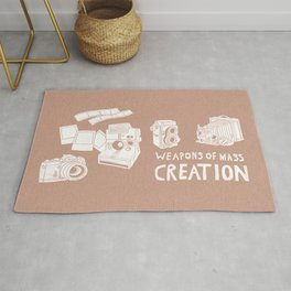 Weapons Of Mass Creation - Photography (white) Rug