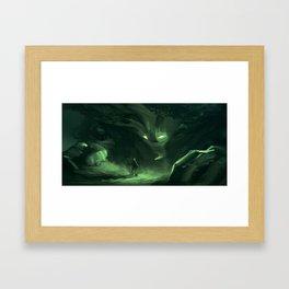 Vegetable golem Framed Art Print