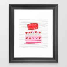 Love you more than cake Framed Art Print