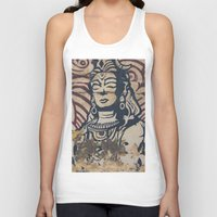 hindu Tank Tops featuring Hindu mural by Rick Onorato