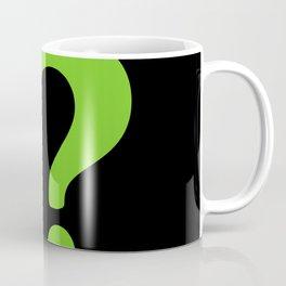 Enigma - green question mark Coffee Mug