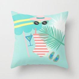 Palm Springs Ready Throw Pillow