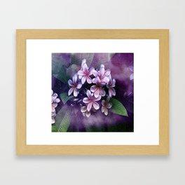 Watercolor Pulmaria Bouquet 2 Framed Art Print