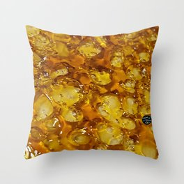 Golden Shatter Throw Pillow