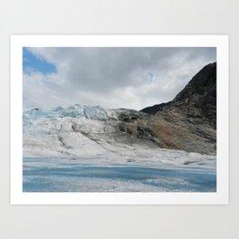 Ice and Stone Art Print