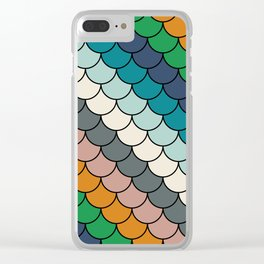 Colorful scales pattern I Clear iPhone Case