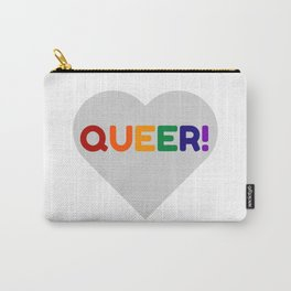 QUEER RAINBOW HEART Carry-All Pouch