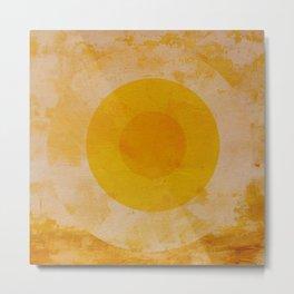 Yellow circle Metal Print
