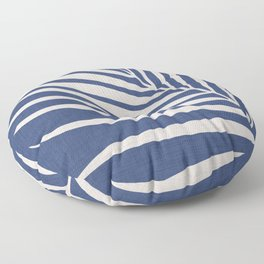 Indigo Palm - Vintage Botanical Floor Pillow