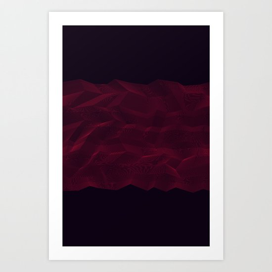 Facets - Dark Purple Art Print