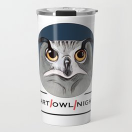 Art owl night art all night Travel Mug