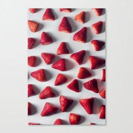 FRESH - CUT - STRAWBERRIES - PHOTOGRAPHY Canvas Print