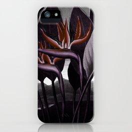 Birds of Paradise : Temple of Flora Dark iPhone Case
