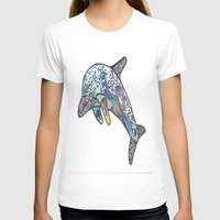 dolphin T-shirts featuring Dolphin by PepperDsArt