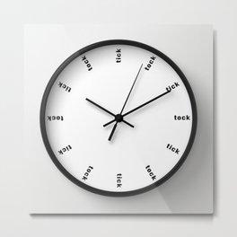 clock tick-tock Metal Print