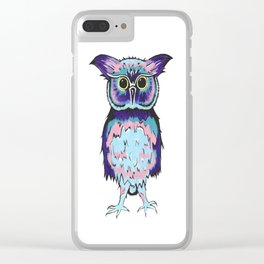 Small Scrappy Owl Clear iPhone Case