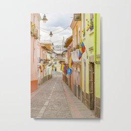 La Ronda Street Quito Ecuador Metal Print