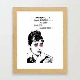 Delusional Lady Framed Art Print
