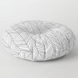 Wabi Sabi Herringbone Pattern Floor Pillow