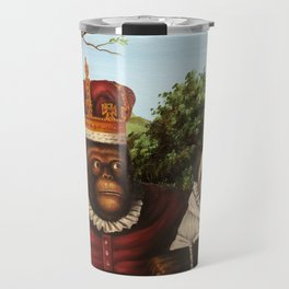 Monkey Queen with Pug Baby Travel Mug