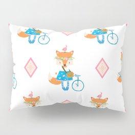Girl Fox with Pink Diamond Pillow Sham