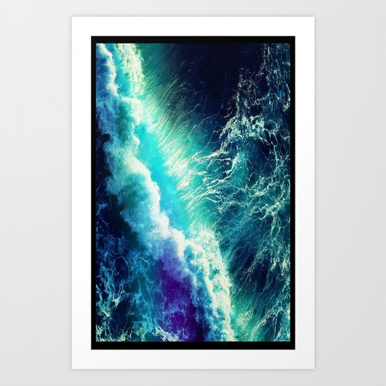Waves - for iphone Art Print