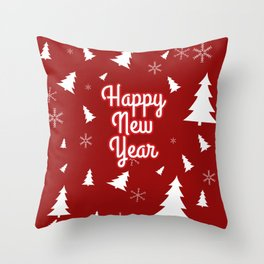New Year, Christmas, winter holidays illustration New Year, Christmas, winter holidays illustration Throw Pillow