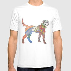 J-town Dog; Seasons of Change White Mens Fitted Tee MEDIUM