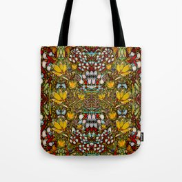 Fantasy forest and Fantasy plumeria flowers in peace Tote Bag