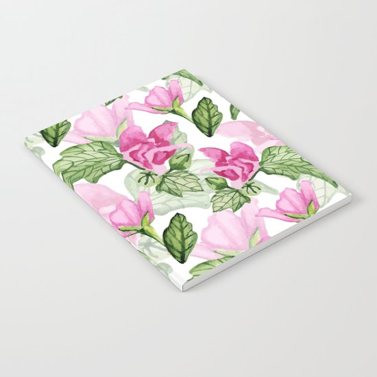 Pink flowers pattern Notebook