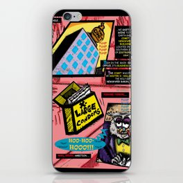 Bird of Steel Comix - Page #3 of 8 (Society 6 POP-ART COLLECTION SERIES)  iPhone Skin